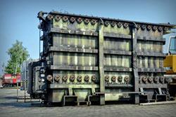 transformator olejowy znajdujący się na bazie Kolmet Radomsko