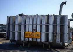 transformator energetyczny znajdujący się na bazie Kolmet Radomsko